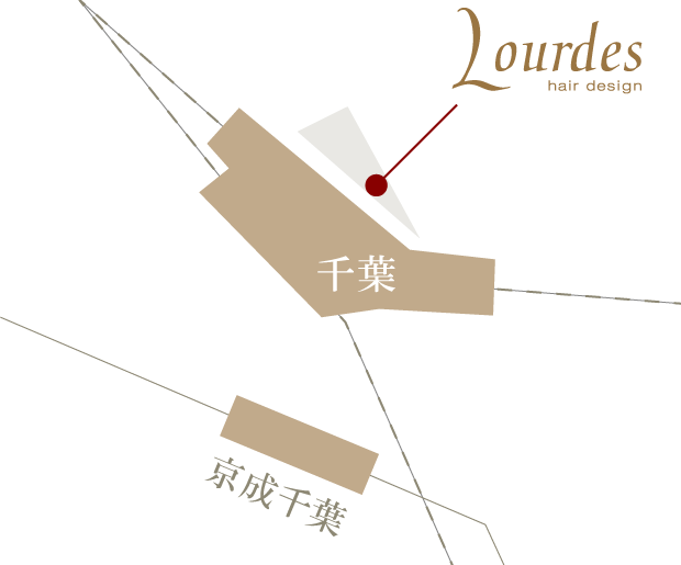 千葉 Lourdes Hair Designの地図
