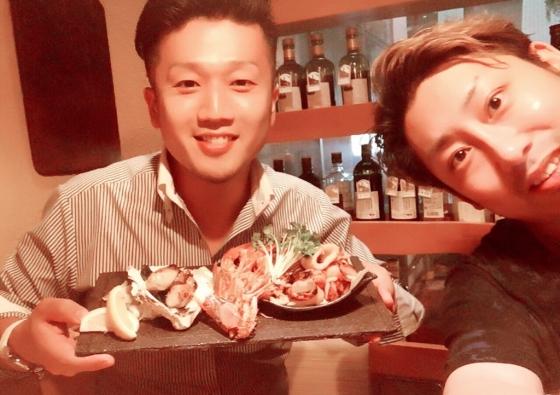 同志との食事は最高です!!@Sato