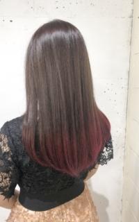 ロングの毛先カラー サロンギャラリー  ヘアカタログ